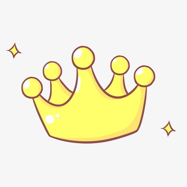 Floating Cartoon Crown, Cartoon Clipart, Crown Clipart, Cartoon.