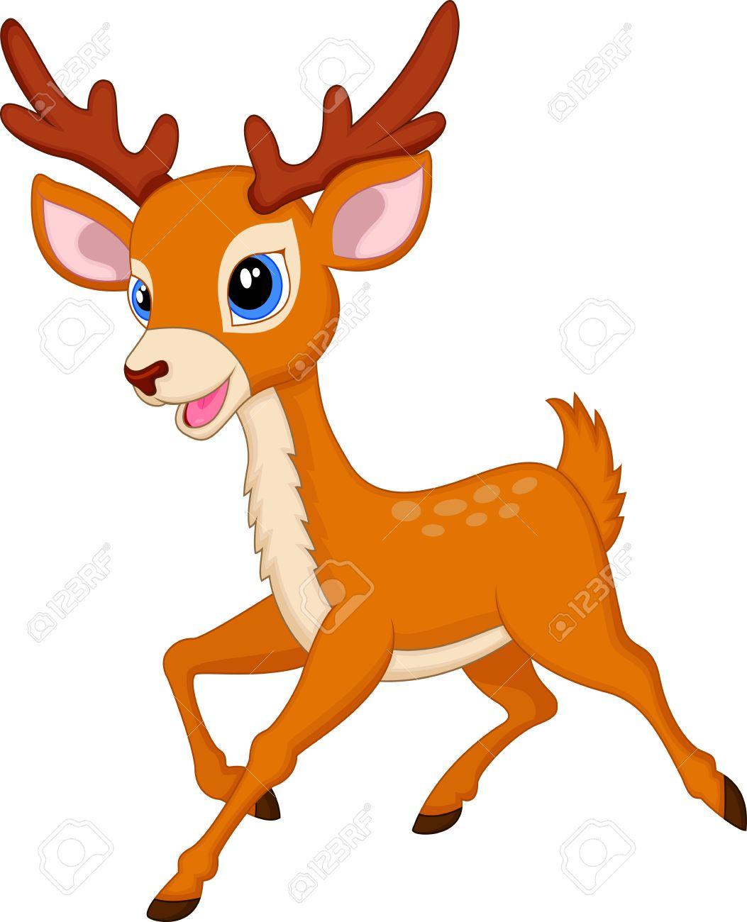 Cute deer cartoon.