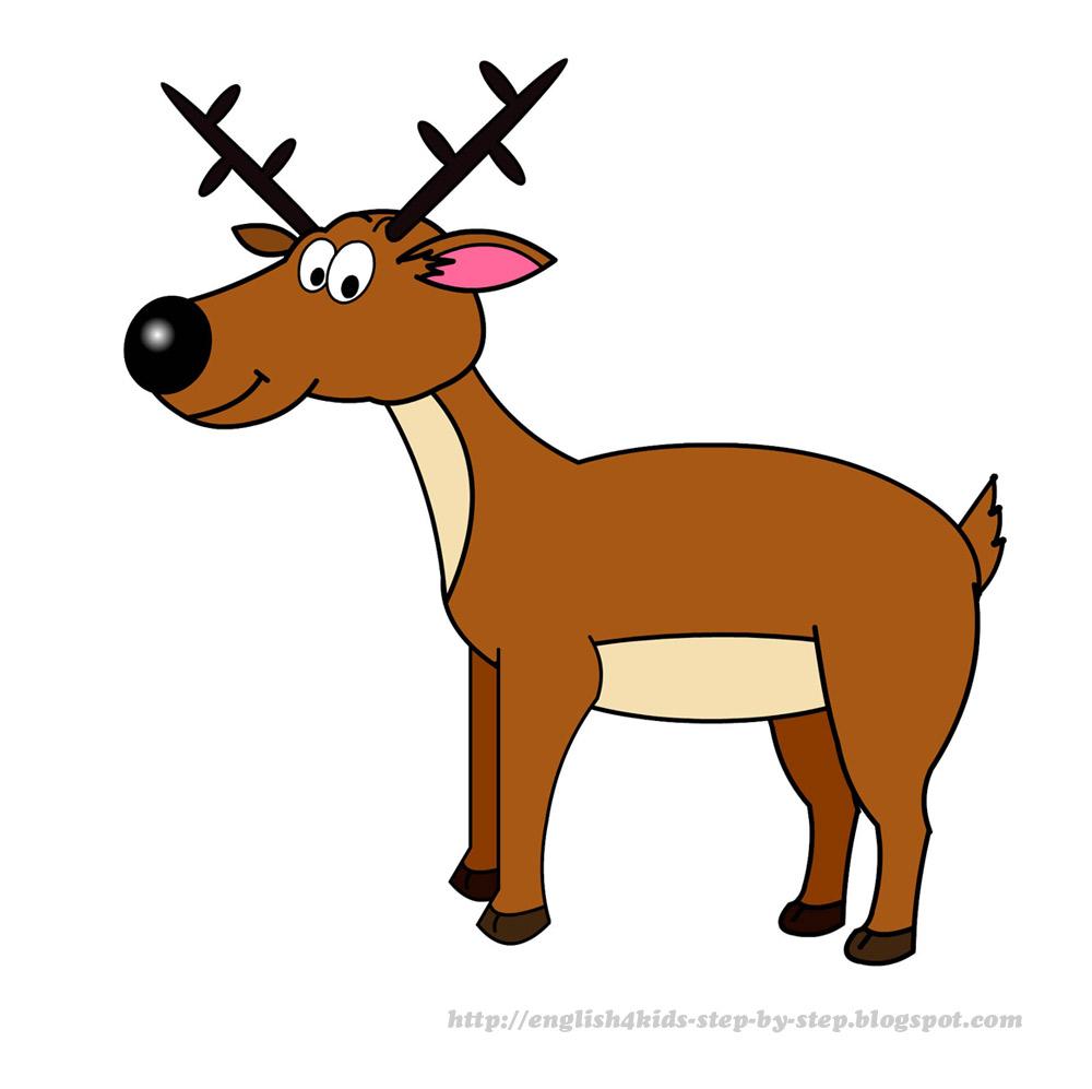 Cartoon deer clip art.