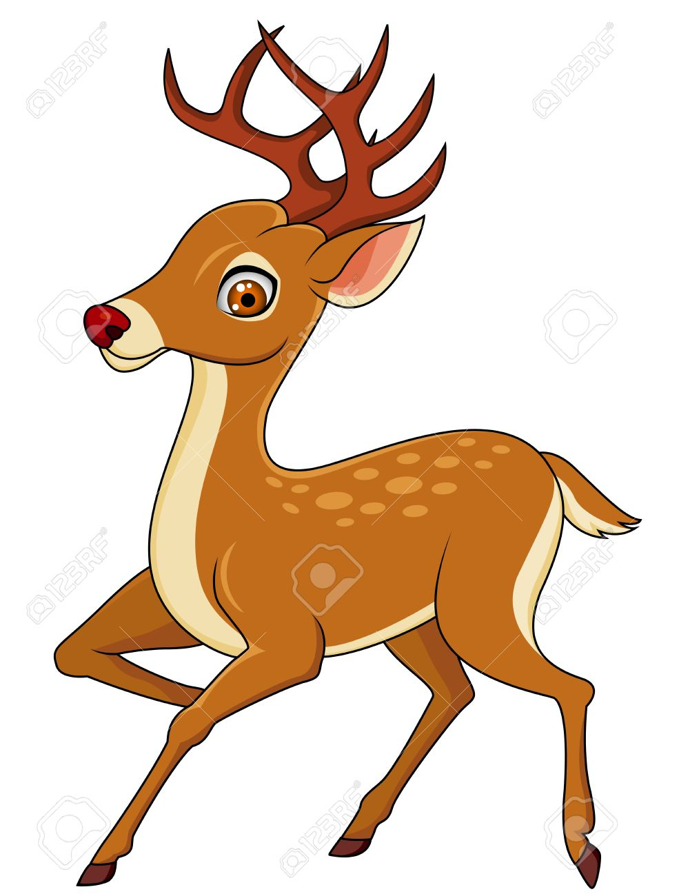 Deer cartoon.