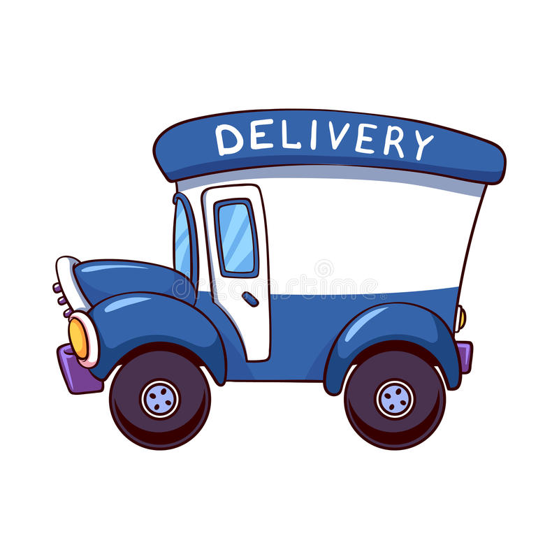 Cartoon Delivery Truck Stock Illustrations.