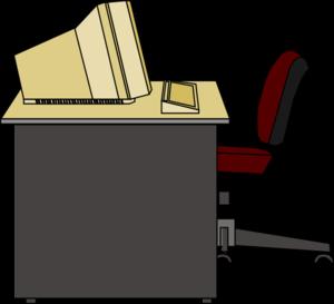 Showing post & media for Cartoon desk clip art.