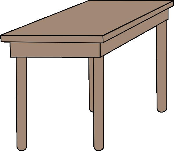 Clip Art Cartoon Table Clipart.