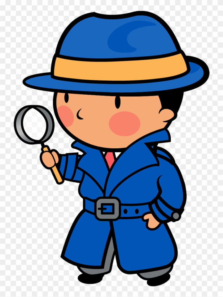 Detective Clipart Free Cartoon Looking For Clues Image.