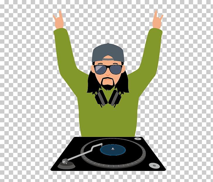 Cartoon Disc jockey Illustration, Cartoon DJ Bar PNG clipart.