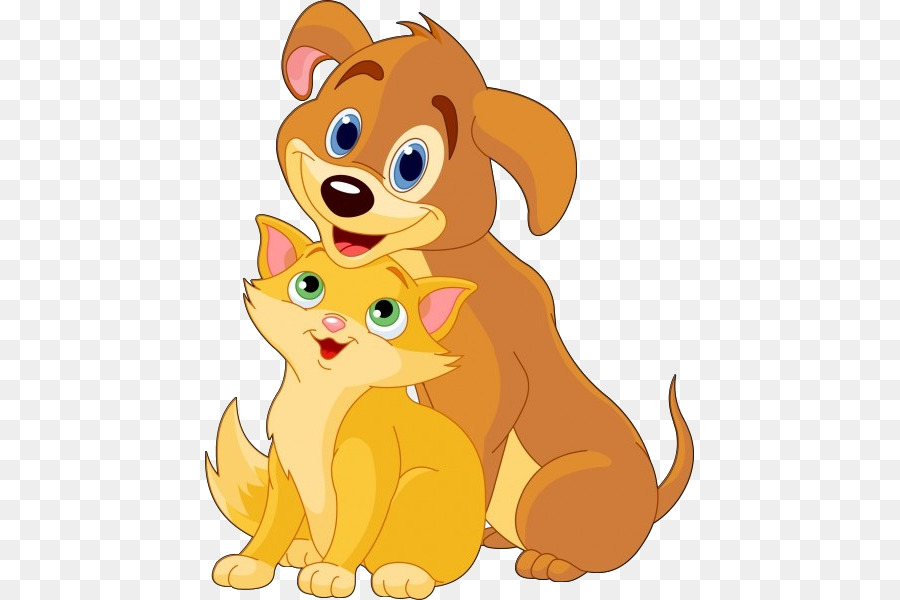 Cat And Dog Cartoon png download.