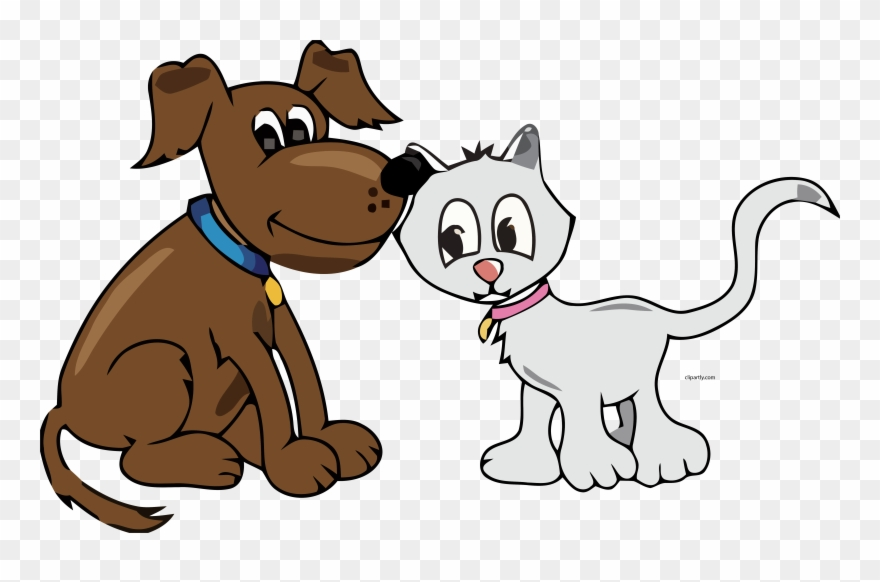 Cartoon Dog And Cat Clipart Png Transparent Png (#3900756).