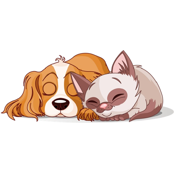 dog & cat clipart.