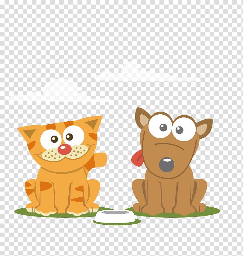 Cat and dog illustration, Cat Dog Cartoon Pet, cats and dogs.