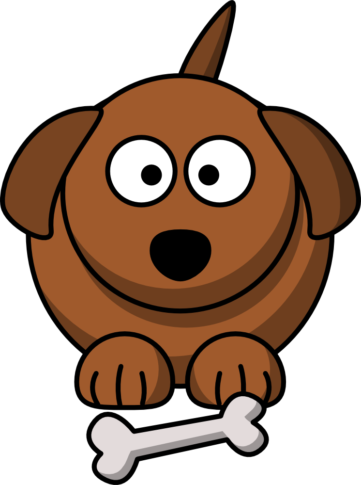 Cute Cartoon Dog graphic.