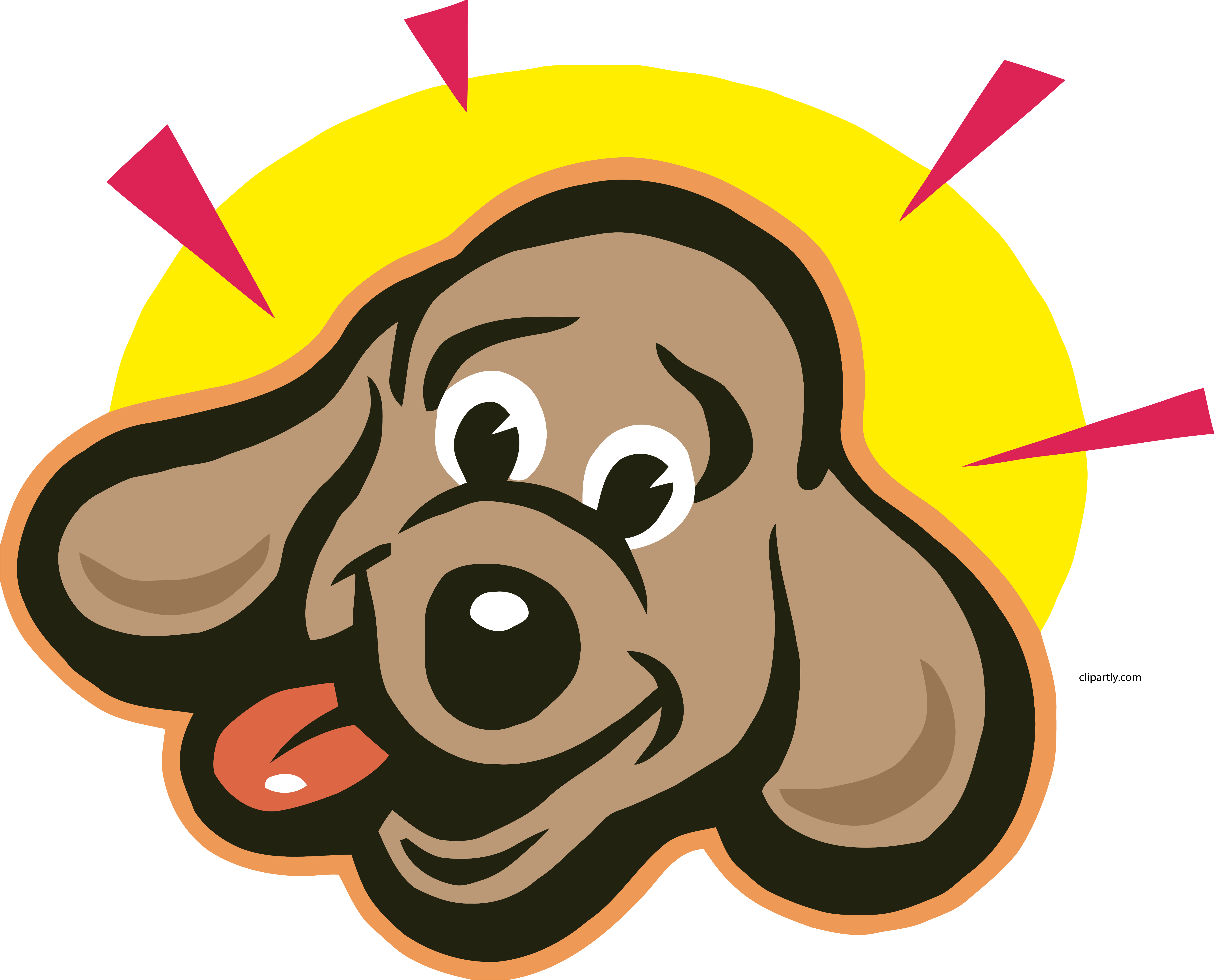 Bright Dog Face Clipart Png.