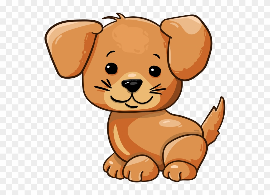 Cartoon Cute Puppy.