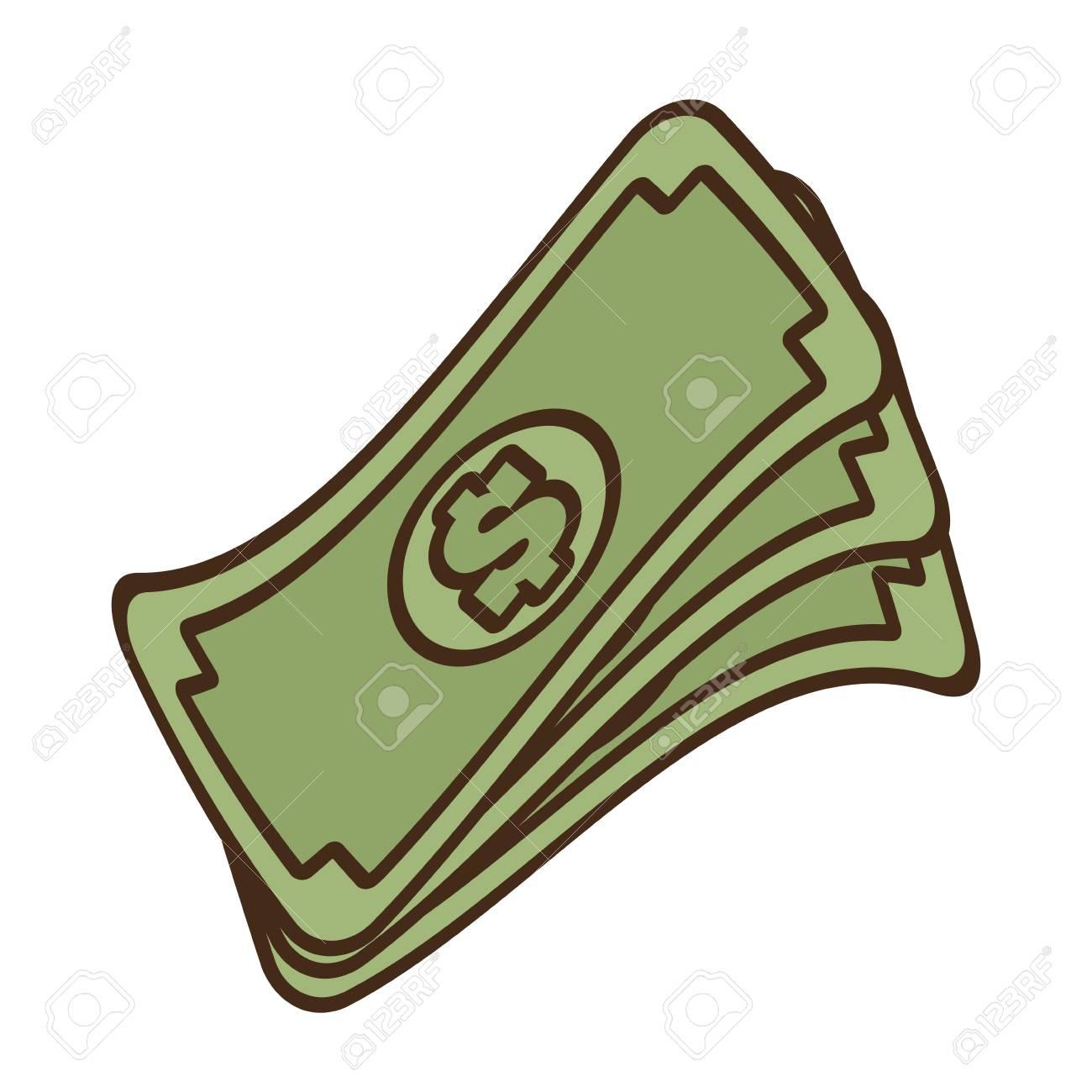 cartoon stack money dollar bills cash vector illustration eps...