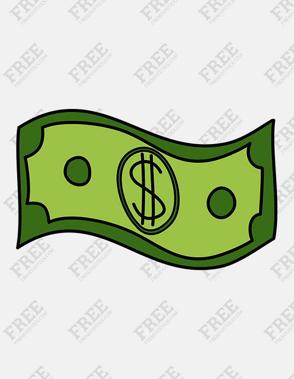 Free Graphic] Simple Dollar Bill.