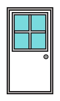 Cartoon door.