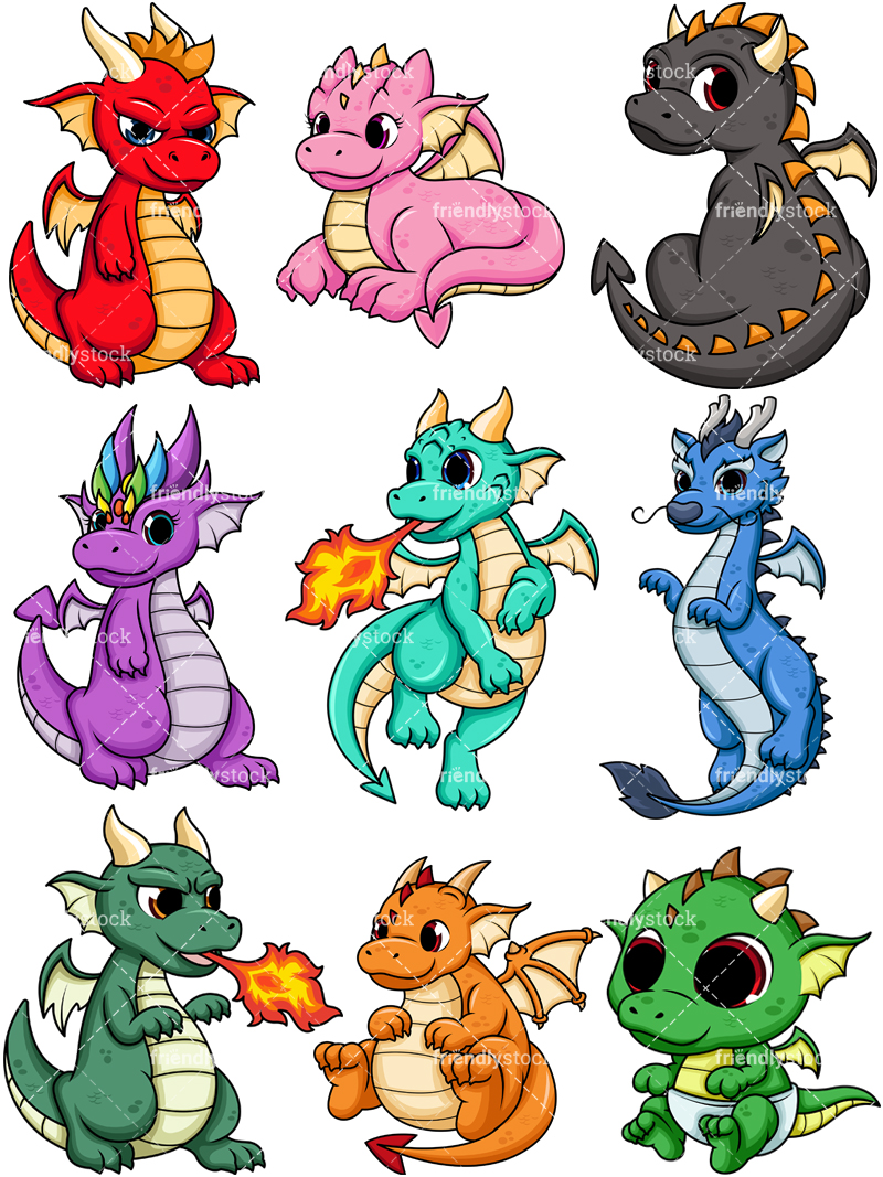 Cute Dragons Collection.