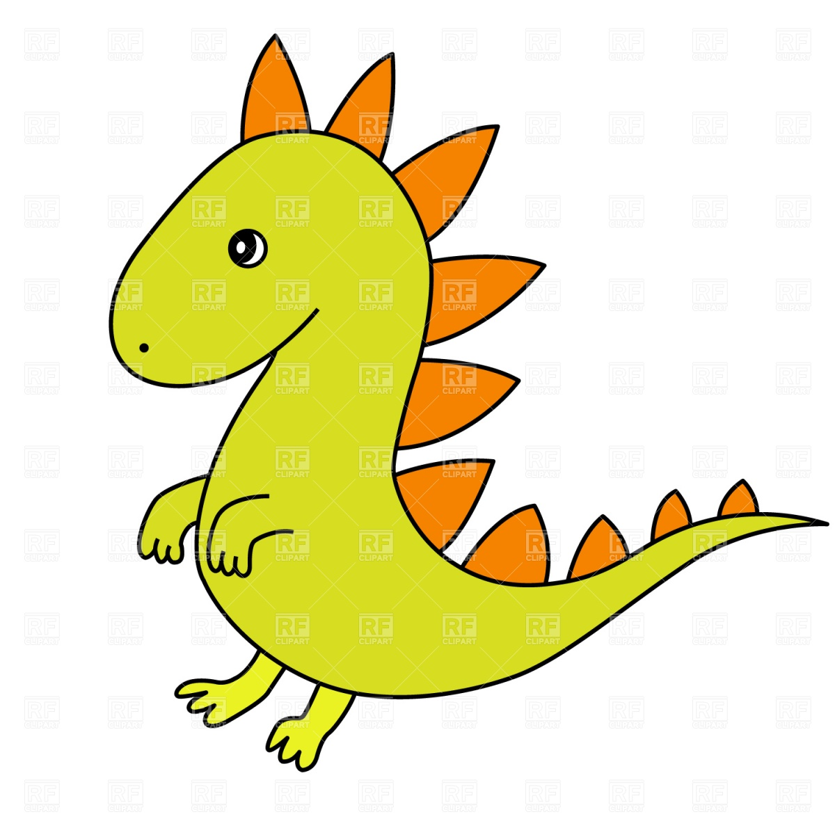 Cartoon dragon Stock Vector Image.
