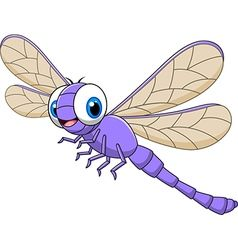 Cartoon funny dragonfly isolated Royalty Free Vector Image.