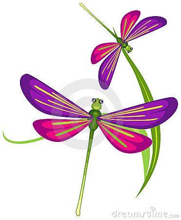 Cartoon Dragonfly Stock Illustrations.
