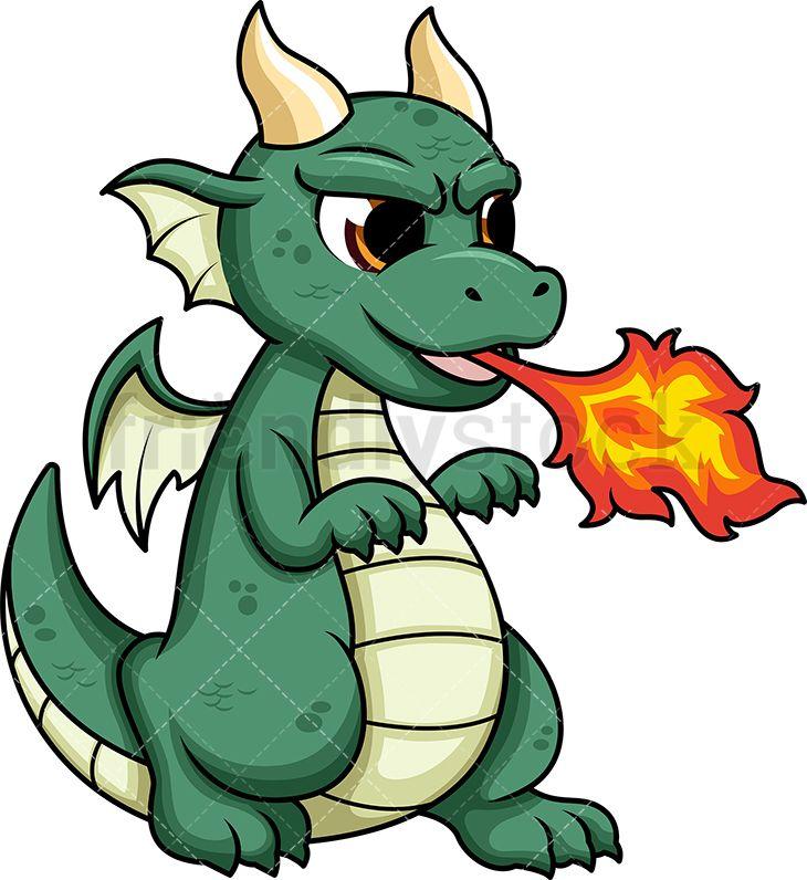 Cute Dragon Breathing Fire in 2019.