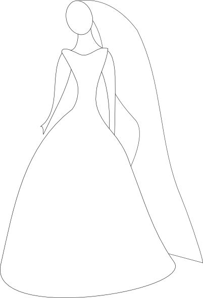 Bride In Wedding Dress Clip Art at Clker.com.
