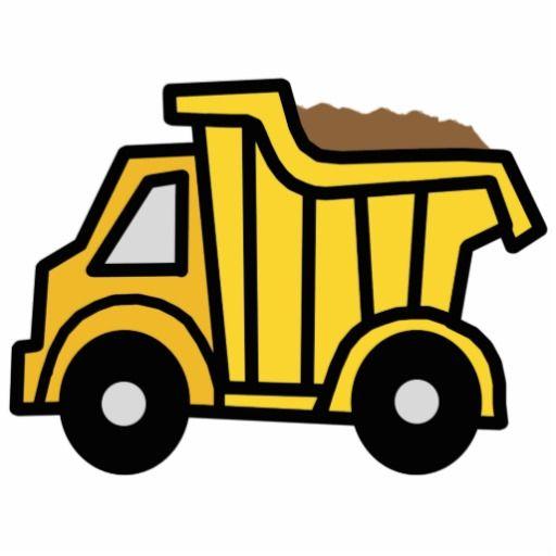Cartoon Clip Art with a Construction Dump Truck Cutout.