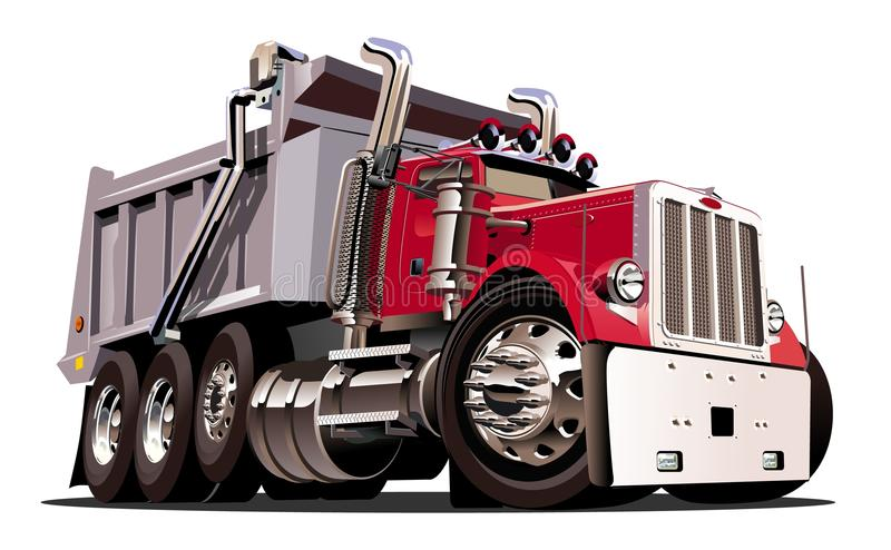 Cartoon Dump Truck Stock Illustrations.