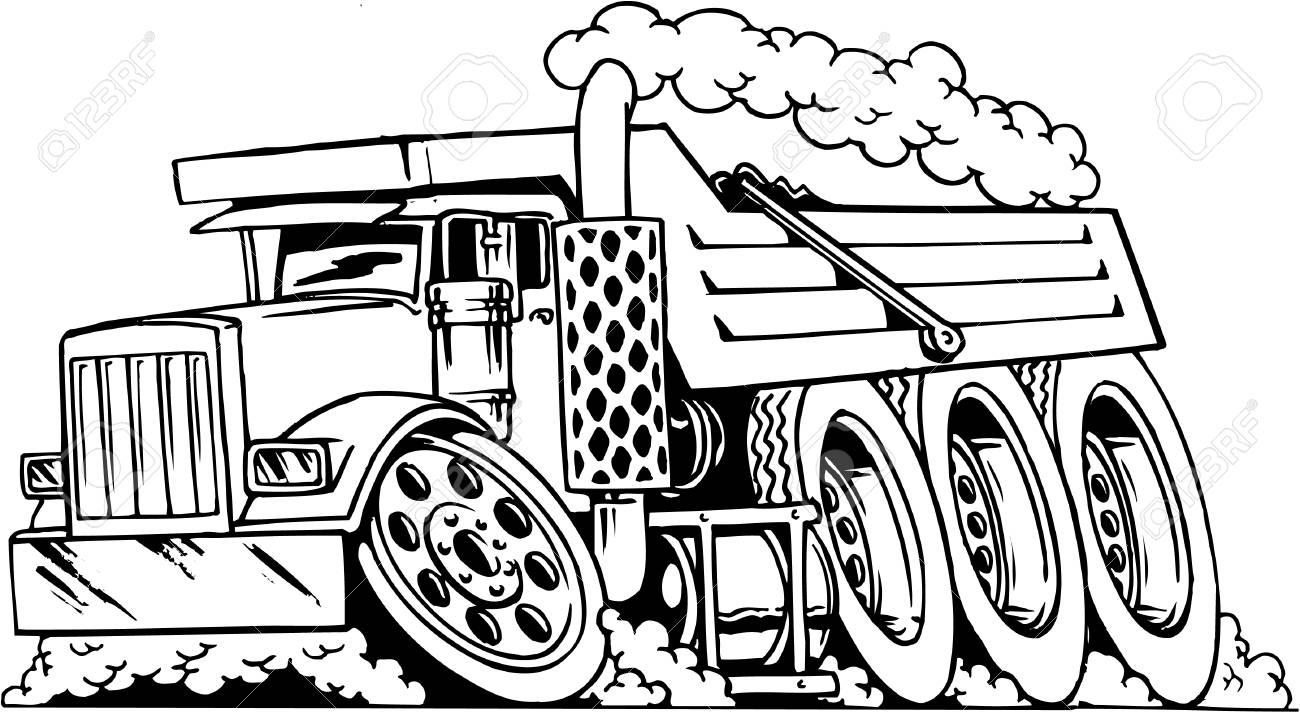 Dump Truck Cartoon.