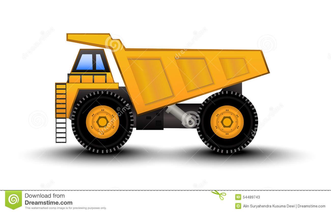Dump Truck Cartoon stock vector. Illustration of building.