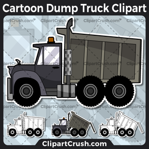 Cartoon Dump Truck Clipart.