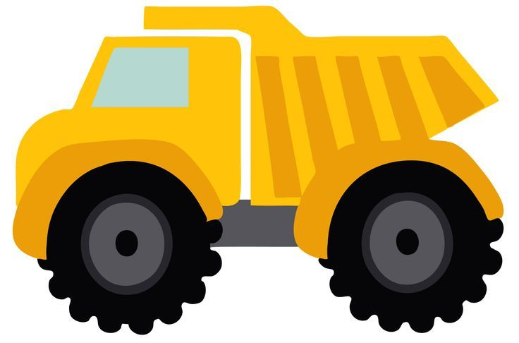Cartoon Truck Birthday Clipart.