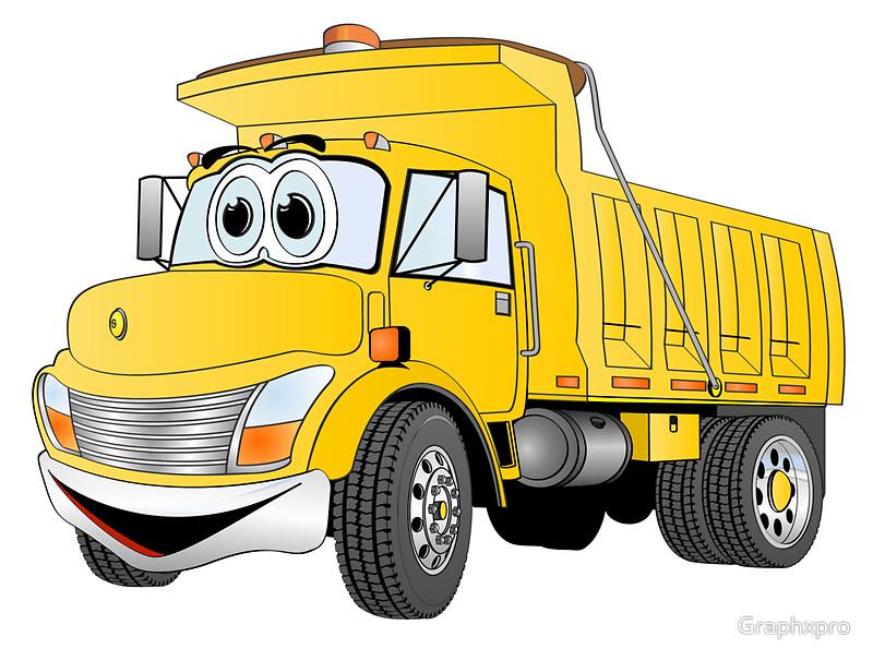 Cartoon Dump Truck.