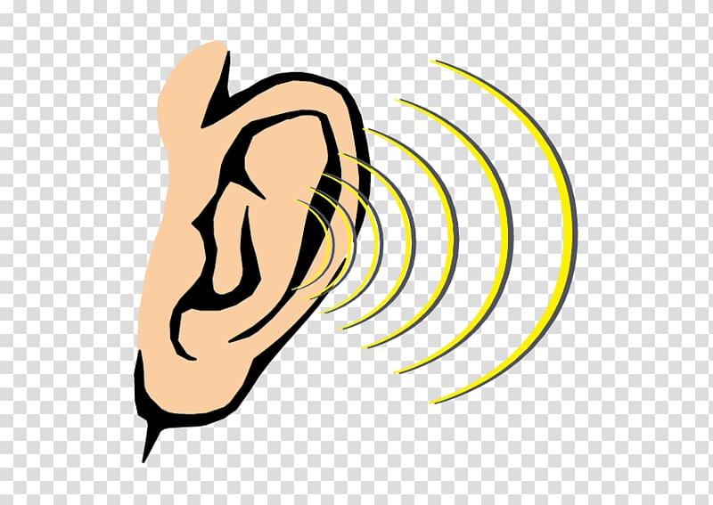 Hearing art, Hearing Sound Sense Human body, Cartoon ear.