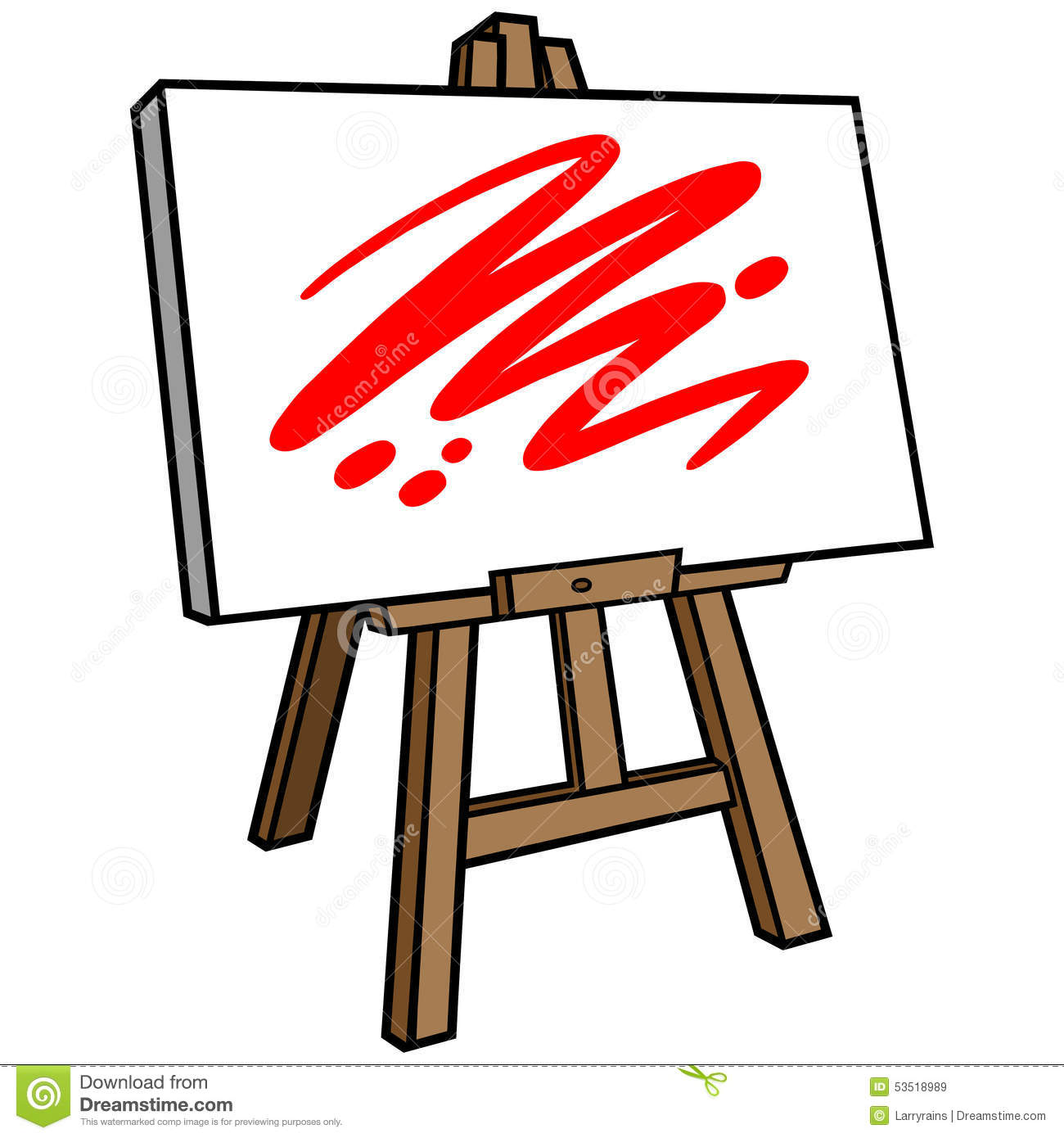 Art Easel stock vector. Illustration of drawing, canvas.