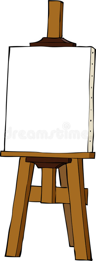 Cartoon Easel Stock Illustrations.