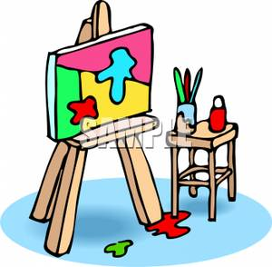 Easel clipart cartoon.