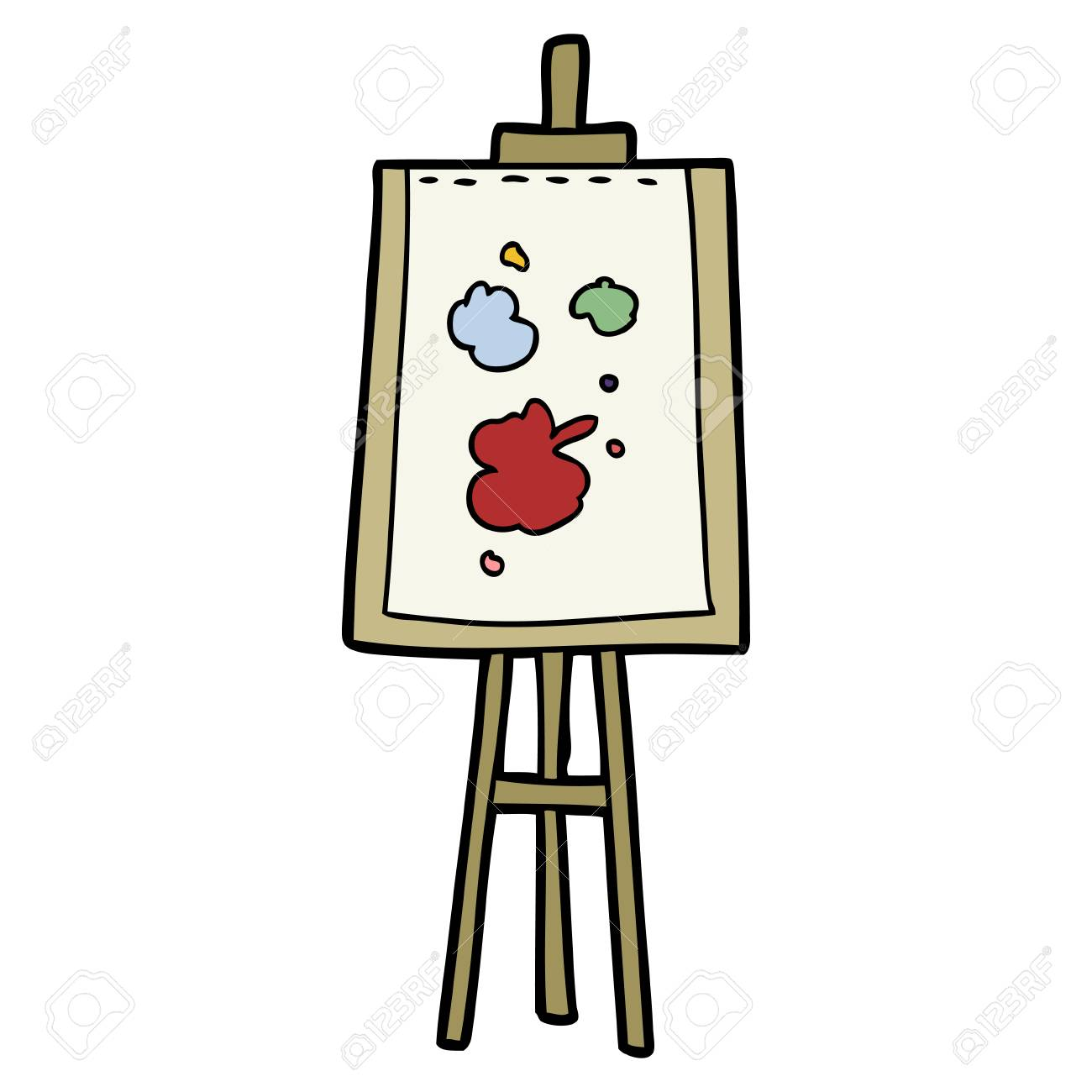 cartoon painting easel.