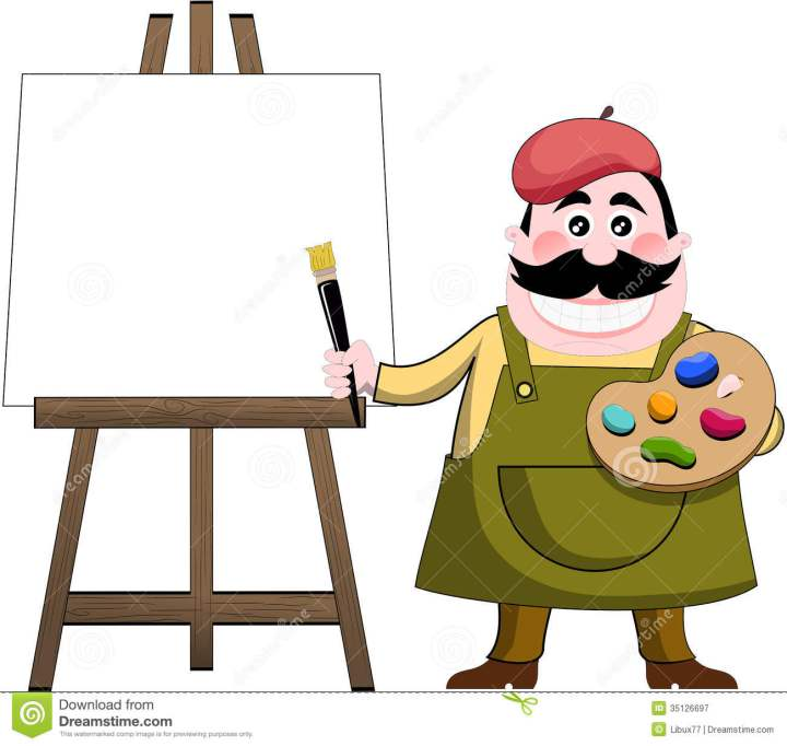 Cartoon Artist Painting Thank You Boss Clip Art View Original free image.