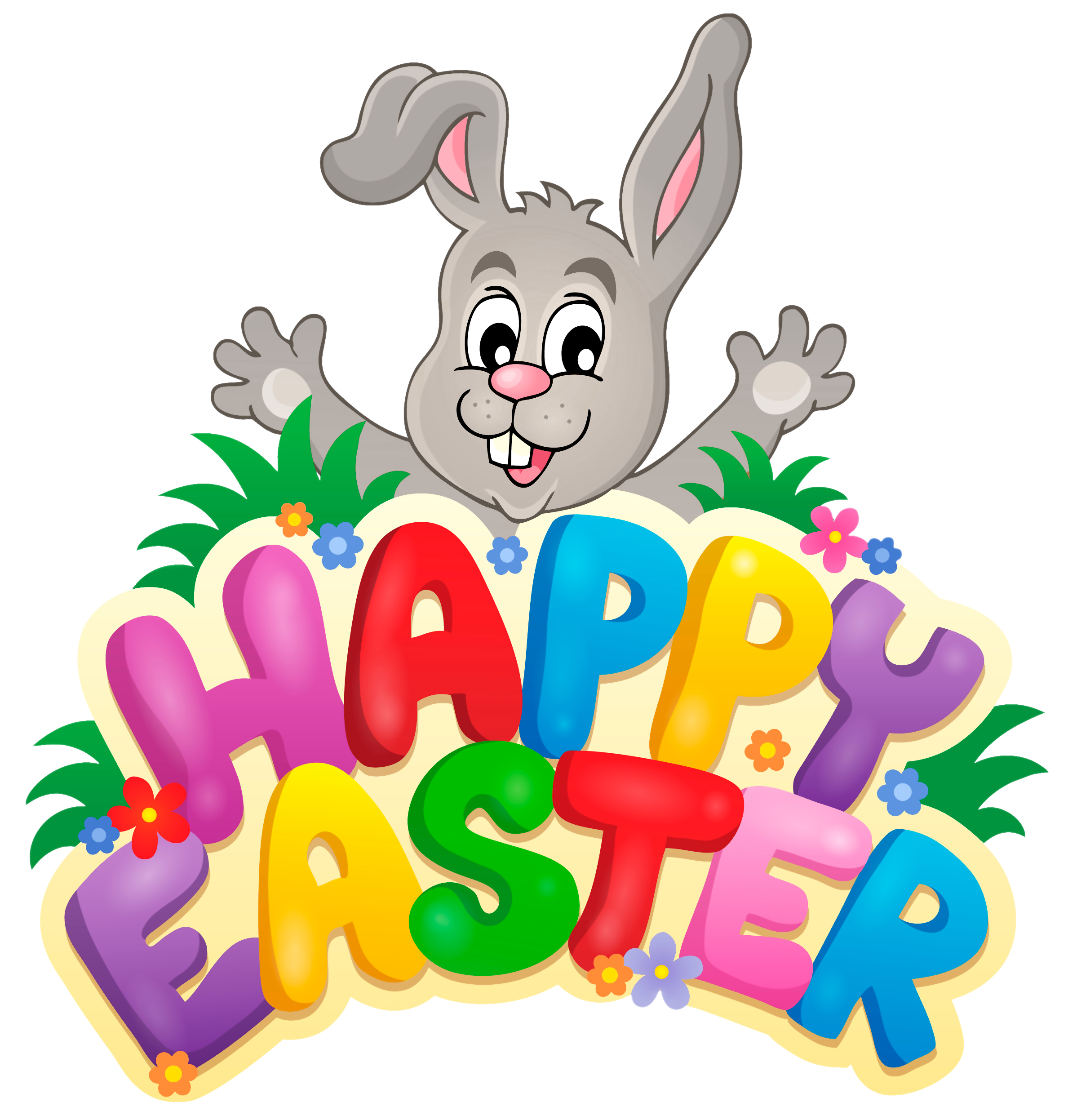 Download High Quality Happy Easter Cartoon Transparent PNG.