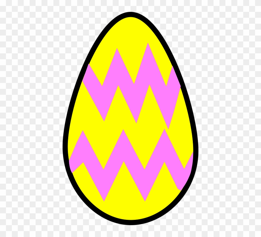 Easter Eggs Clipart Yellow.