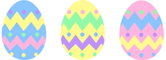 Pastel Easter Eggs Clipart.