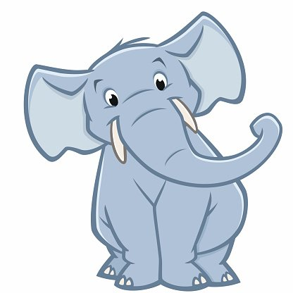 Cartoon Elephant Clipart Image.