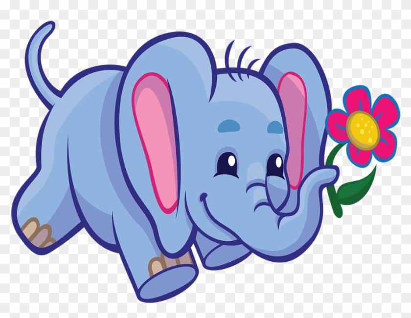 Temporary Elephant Cartoon Cute.
