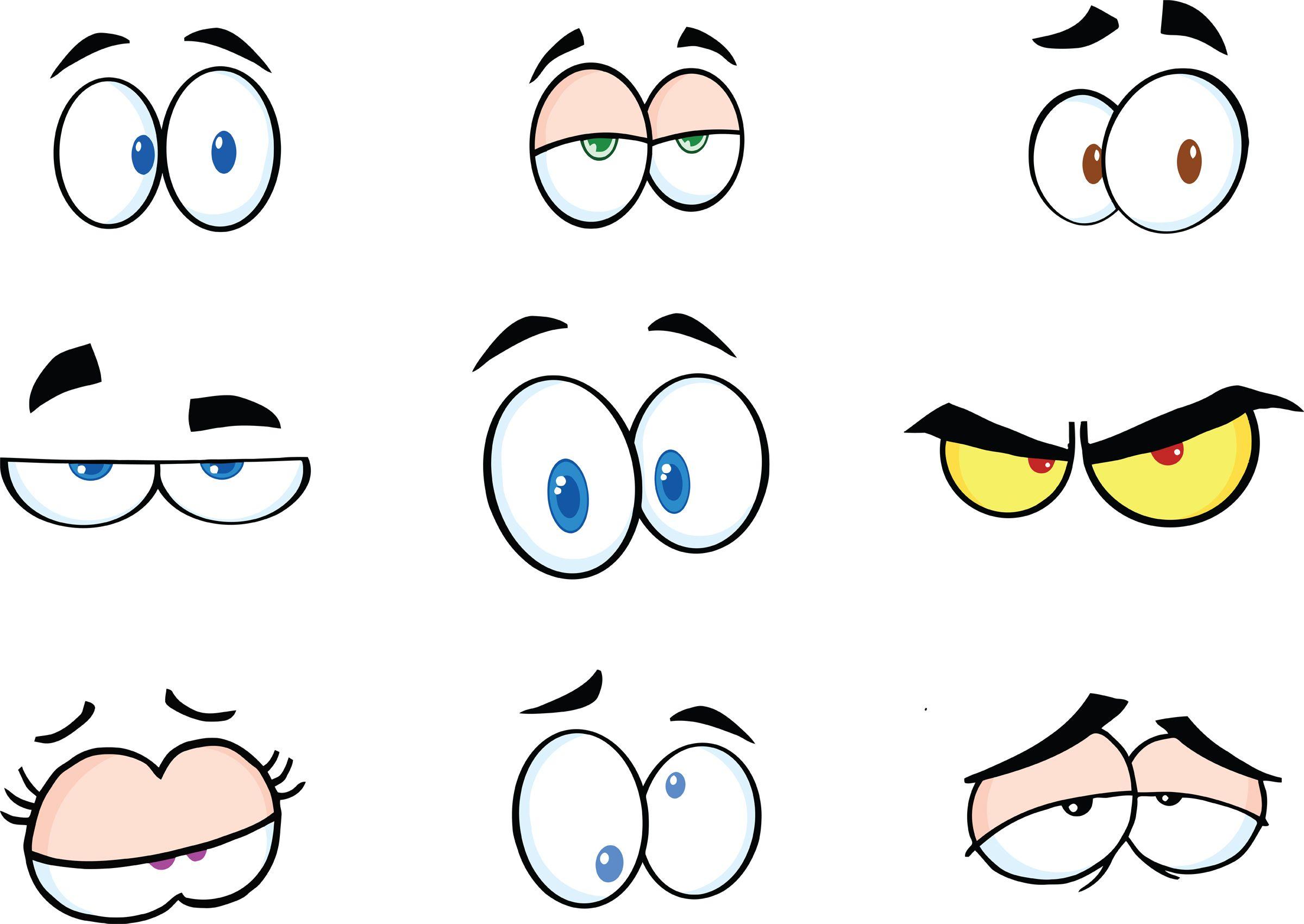 Funny Cartoon Eyes Clipart.