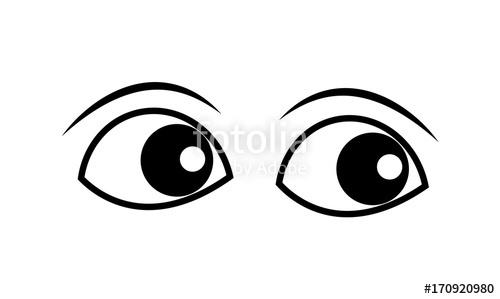 Cartoon Eyes Clipart Vector