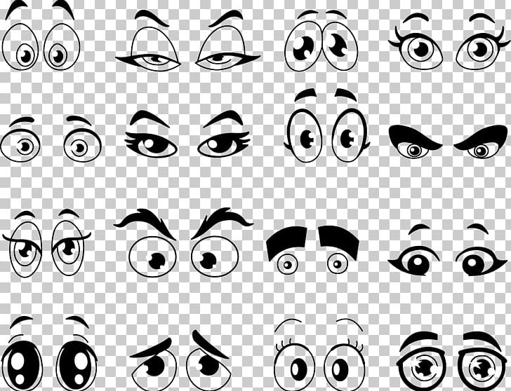 Cartoon Eye PNG, Clipart, Angle, Anime Eyes, Black And White.