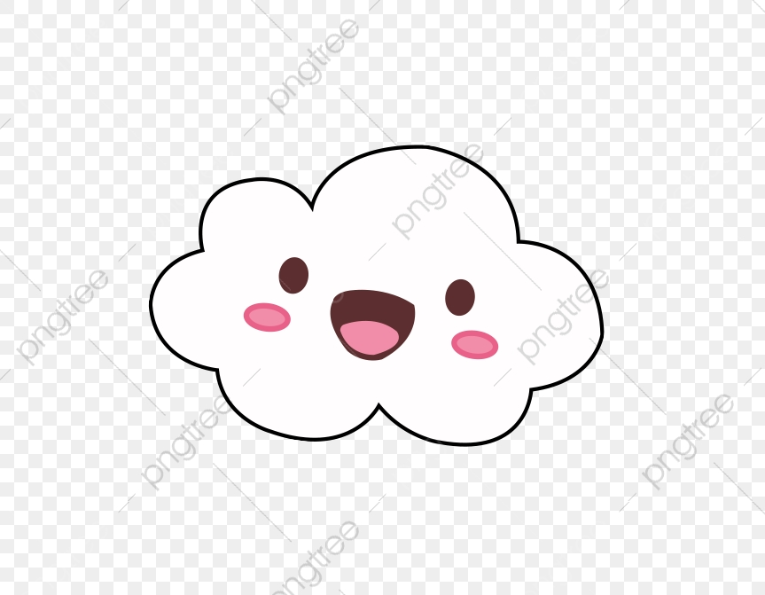 Cartoon Face Clouds, Cartoon Clipart, Face Clipart, Lovely PNG.