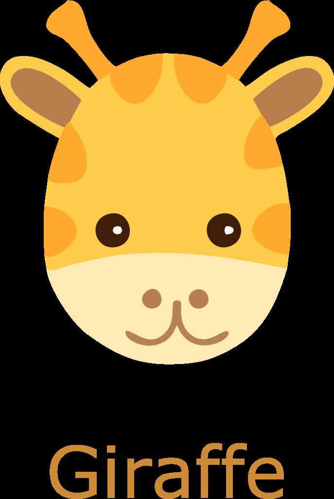 Giraffe Face Cartoon.