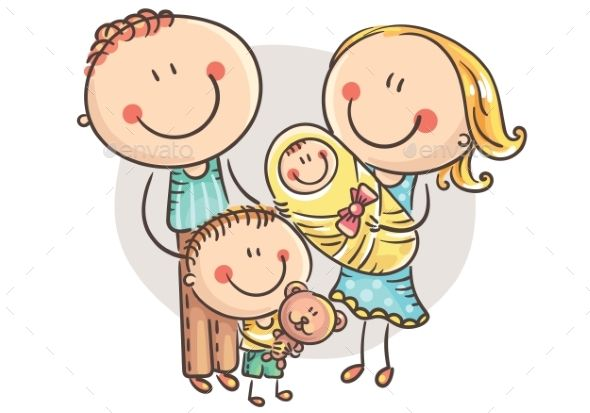 Happy Family with Two Children #Happy, #Family, #Children.