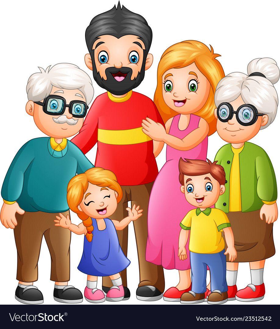 Happy family cartoon Royalty Free Vector Image.